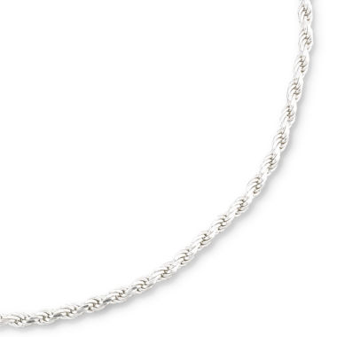 "jcpenney.com | Sterling Silver 18-24"" 2.8mm Rope Chain"