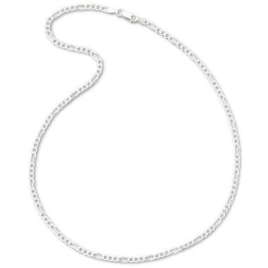 "jcpenney.com | Made in Italy Silver 24"" 3.2mm Figaro Chain"