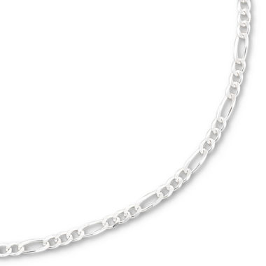 "jcpenney.com | Silver 20"" 3.2mm Figaro Chain"