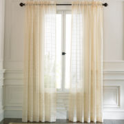 Fortune Faux-Silk Rod-Pocket Sheer Panel
