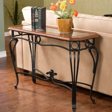 "jcpenney.com | Trellise Glass Top 28"" Sofa Table"