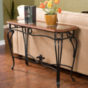 "Trellise Glass Top 28"" Sofa Table"