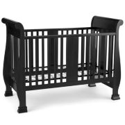 Savanna Bella Convertible Crib - Black