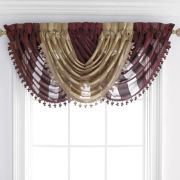 Royal Velvet® Chantal Rod-Pocket Sheer Waterfall Valance