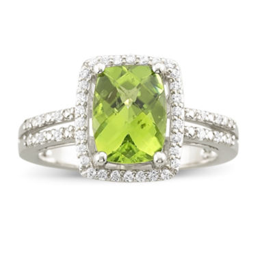 jcpenney.com | Genuine Peridot & White Topaz Sterling Silver Ring