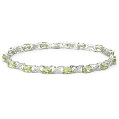 jcpenney.com | Genuine Peridot & Diamond-Accent Bracelet