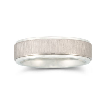 jcpenney.com |  Mens 6mm Stainless Steel Comfort Fit Ring