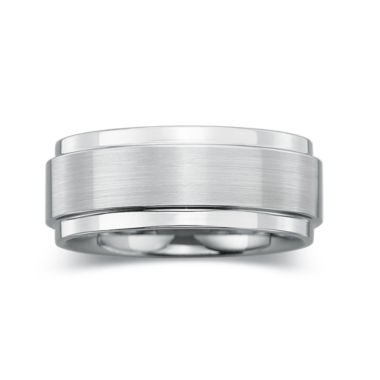 jcpenney.com |  Mens 8mm Comfort-Fit Ring in Tungsten