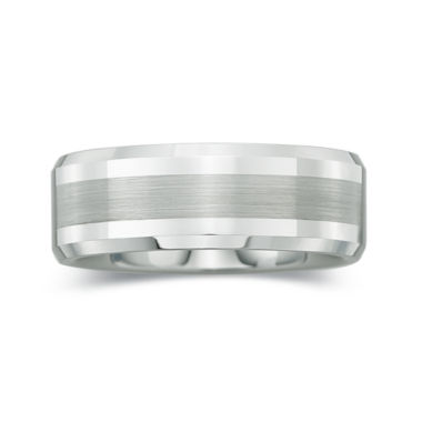 jcpenney.com |  Mens 8mm Comfort Fit Satin Center Ring in Tungsten