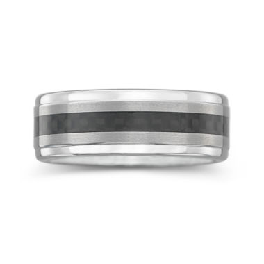 jcpenney.com |  Tungsten Wedding Band, Mens 8mm Comfort Fit