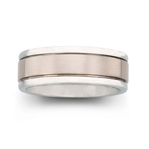 mens titanium comfort fit wedding band - Jcpenney Mens Wedding Rings