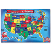 Melissa & Doug® 51-pc. USA Floor Map Puzzle