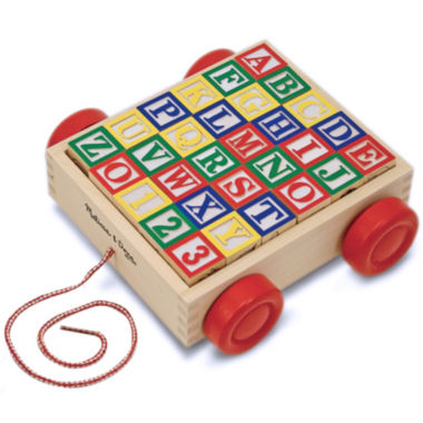 jcpenney.com | Melissa & Doug® Classic Alphabet Blocks with Cart