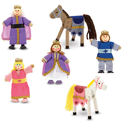 Melissa & Doug® Royal Family Wooden Doll Set