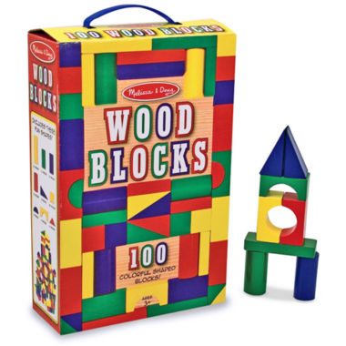 jcpenney.com | Melissa & Doug 100-pc. Wood Blocks Set