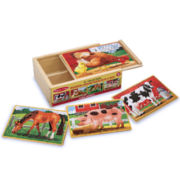 Melissa & Doug® Farm Animals Puzzle in a Box