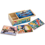 Melissa & Doug® Deluxe Sea Life Puzzles in a Box