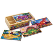 Melissa & Doug® Dinosaur Puzzles in a Box