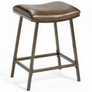 Plum Lake Adjustable Backless Saddle Barstool