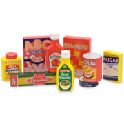 Melissa & Doug® Wooden Pantry Play Food Set