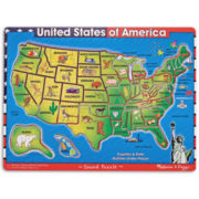 Melissa & Doug® USA Map Sound Puzzle