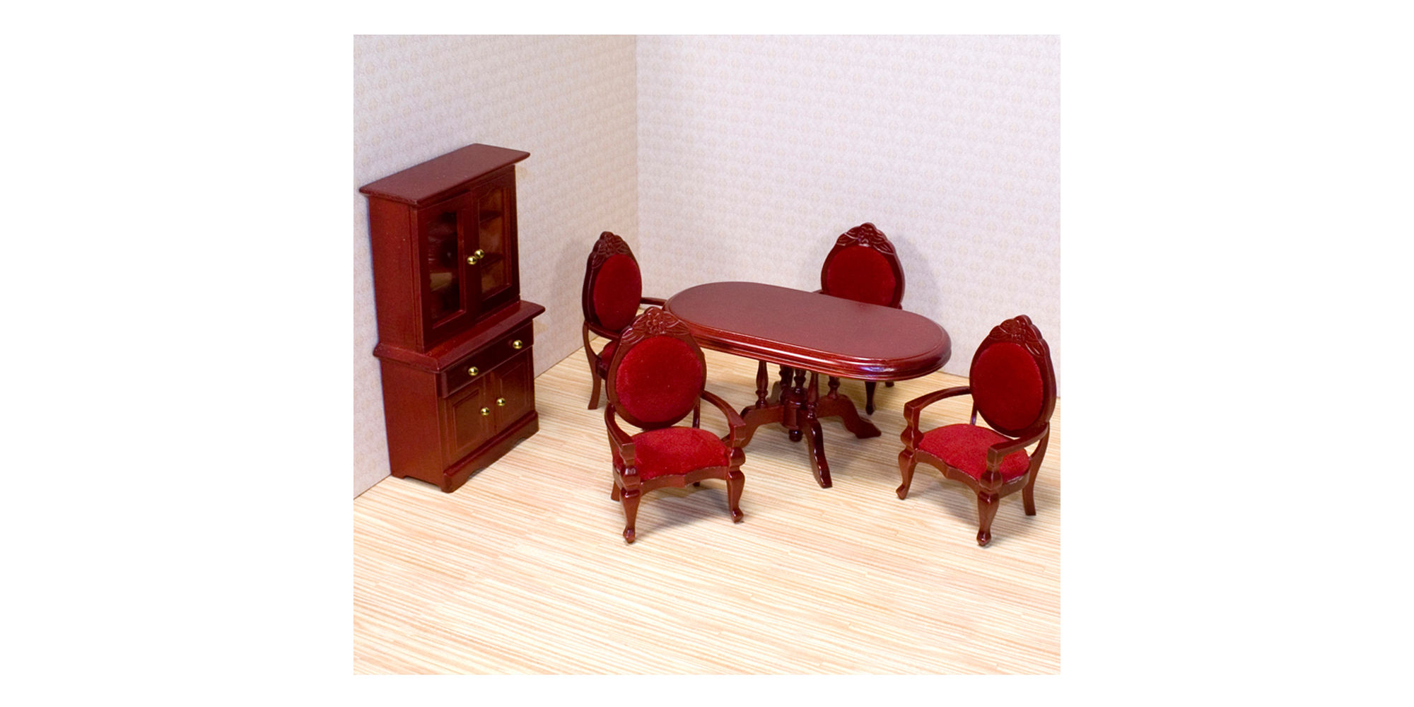 Melissa & Doug Dining Room Dollhouse Furniture