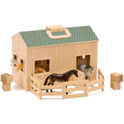 Melissa & Doug® Fold & Go Play Stable
