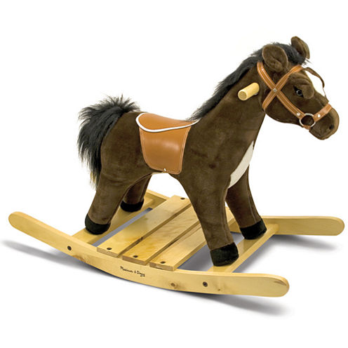 Melissa & Doug® Rock and Trot Plush Rocking Horse