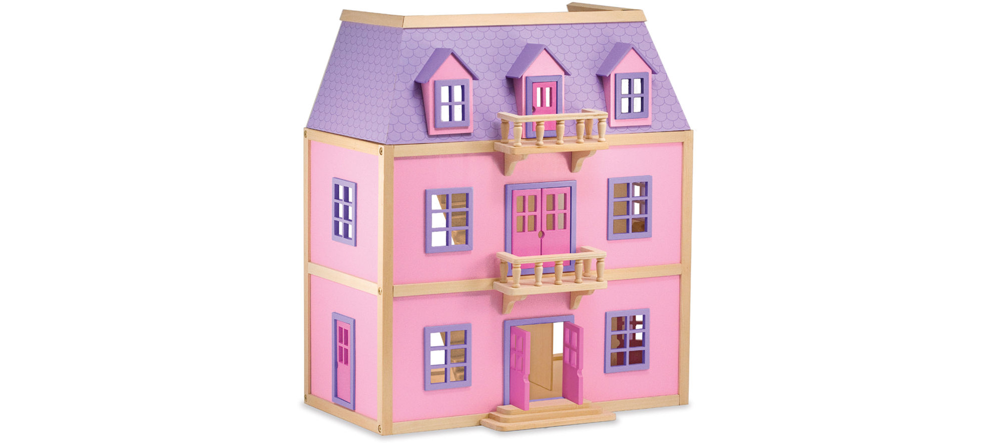 Melissa & Doug Wooden Multi-Level Dollhouse