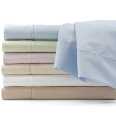 jcpenney.com | 600tc Easy Care Set of 2 Solid Pillowcases