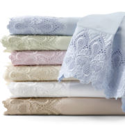 600tc Easy Care Set of 2 Lace Pillowcases
