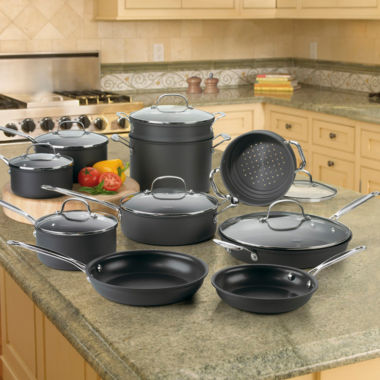 jcpenney.com | Cuisinart® 17-pc. Hard-Anodized Cookware Set