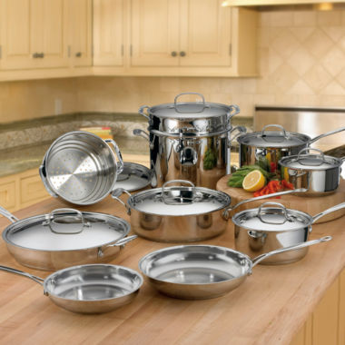 jcpenney.com | Cuisinart® 17-pc. Stainless Steel Cookware Set