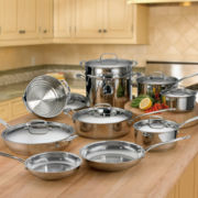 Cuisinart® 17-pc. Stainless Steel Cookware Set