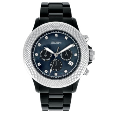 jcpenney.com | Elgin® Womens Black Crystal Chronograph Watch