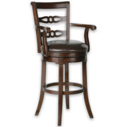Addison Swivel Barstool with Back