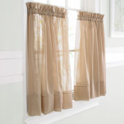 jcp home™ Lisette Rod-Pocket Sheer Window Tier