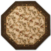 Elegant Fruit Washable Octagonal Rug