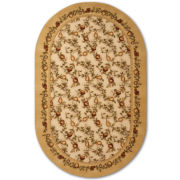jcp home™ Elegant Fruit Washable Oval Rug