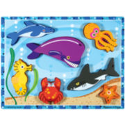 Melissa & Doug® Chunky Wooden Sea Creatures Puzzle