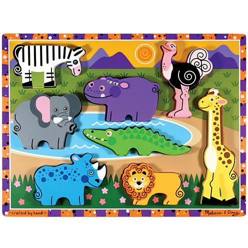 Melissa & Doug® Safari Chunky Wooden Puzzle