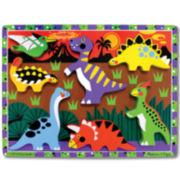 Melissa & Doug® Dinosaurs Chunky Wooden Puzzle