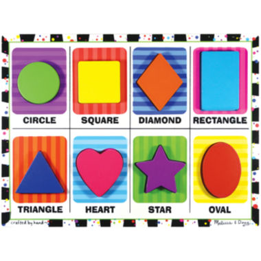 jcpenney.com | Melissa & Doug® Chunky Wooden Shapes Puzzle