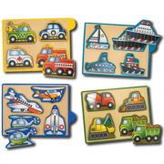 Melissa & Doug® Vehicles Mini-Puzzle Pack