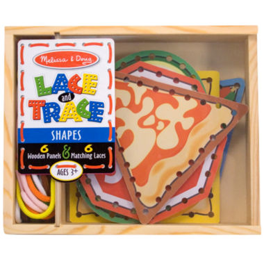 jcpenney.com | Melissa & Doug® Lace & Trace Shapes Learning Toy