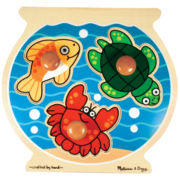 Melissa & Doug® Jumbo Knob Fish Bowl Easy Puzzle