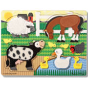 Melissa & Doug® Touch & Feel Farm Animal Puzzle