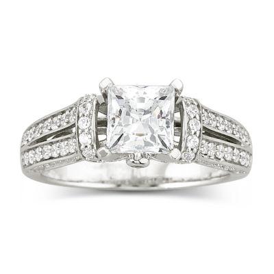 DiamonArt Cubic Zirconia Engagement Ring JCPenney