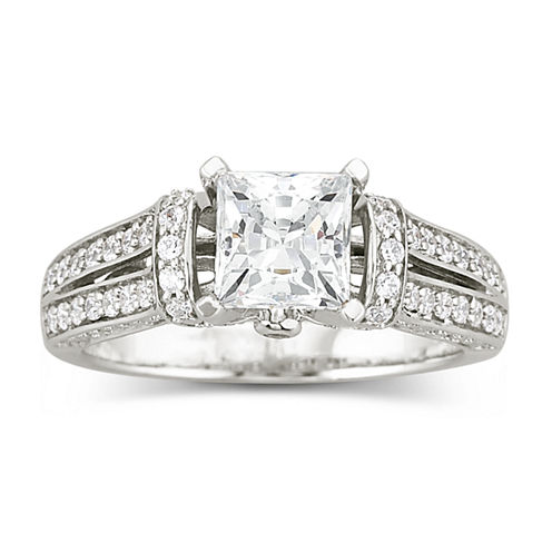 diamonart cubic zirconia engagement ring - Jcpenney Jewelry Wedding Rings