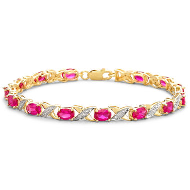 jcpenney.com | Lab-Created Ruby & Diamond-Accent Tennis Bracelet